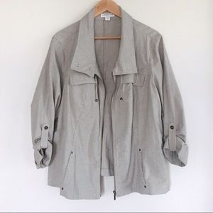 Coldwater Creek mid weight jacket in desert sand